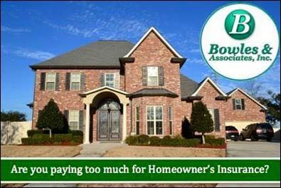 Get a free homeowners insurance quote from Bowles Insurance Agency